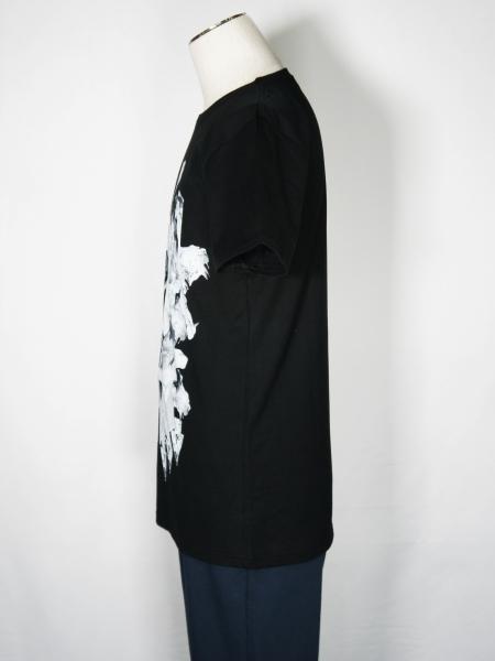 5351POUR LES HOMMES「ブラックパンサー クルーネック半袖Tシャツ」ブラック