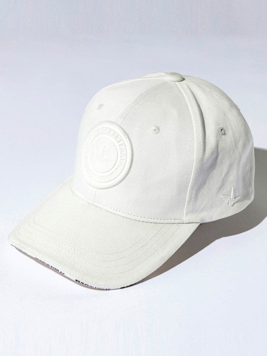 1PIU1UGUALE3 RELAX「ラバーワッペンキャップ」WHITE