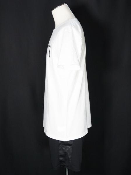 5351POUR LES HOMMES「ステンシルワンライン クルーネック半袖T シャツ」ホワイト