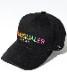 1PIU1UGUALE3 RELAX「レインボーロゴ刺繍キャップ」BLACK