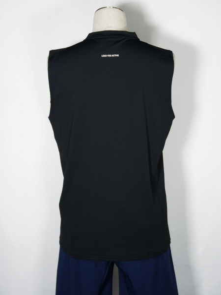 SY32 by SWEET YEARS「IRIDESCENT LOGO TANK TOP」BLACK