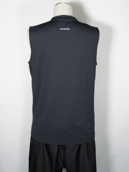 SY32 by SWEET YEARS「IRIDESCENT LOGO TANK TOP」CHARCOAL