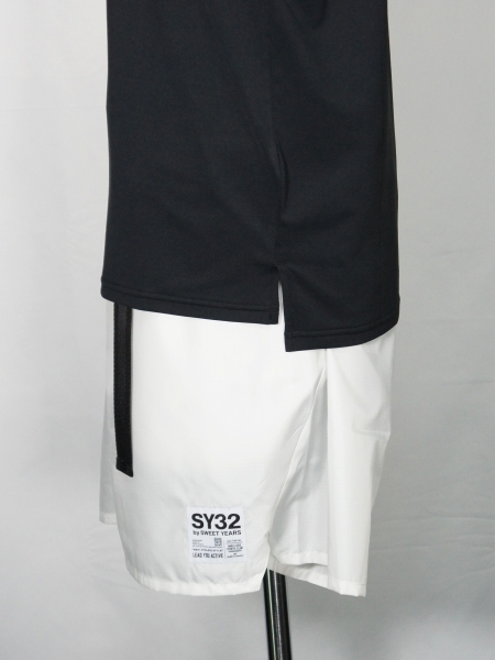 SY32 by SWEET YEARS「IRIDESCENT LOGO PRACTICE SHIRTS」BLACK