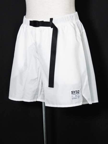 SY32 by SWEET YEARS「ATHLEISURE SHORT PANTS」WHITE