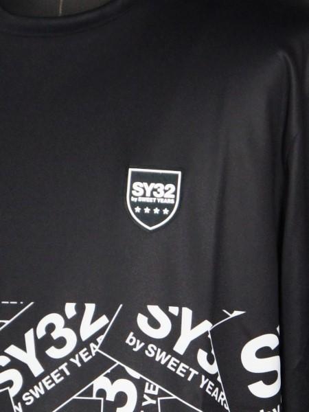 SY32 by SWEET YEARS「EXCHANGE L/S TEE」BLACK