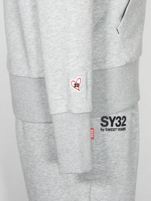 SY32 by SWEET YEARS「SHIELD LOGO ZIP HOODIE」GRAY