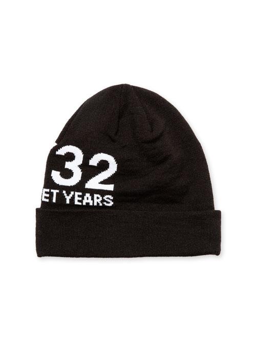 SY32 by SWEET YEARS 「JACQUAD KNIT BEANIE」BLACK【エスワイサーティトゥバイスウィートイヤーズ・ニットビーニー・ブラック】