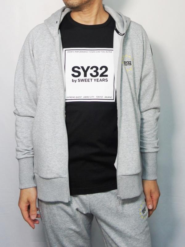 SY32 by SWEET YEARS「WORLD STAR ZIP HOODIE」GRAY