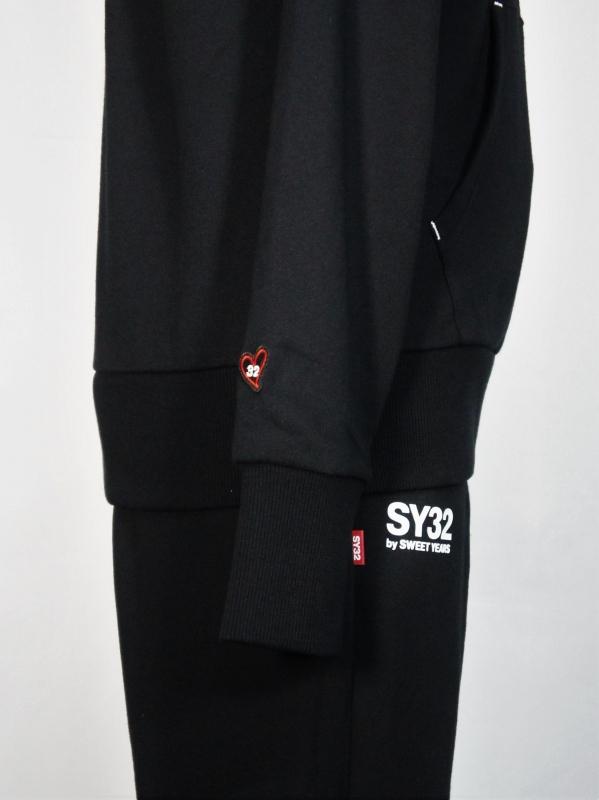 SY32 by SWEET YEARS「SHIELD LOGO P/O HOODIE」BLACK