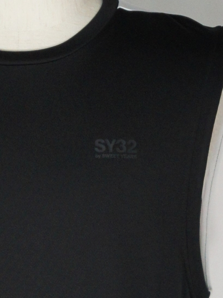 SY32 by SWEET YEARS「NO SLEEVE SHIRTS」BLACK×WHITE