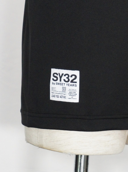 SY32 by SWEET YEARS「NO SLEEVE SHIRTS」BLACK×RED