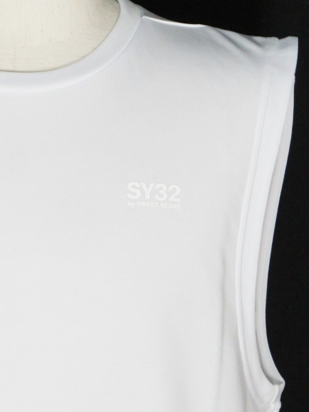 SY32 by SWEET YEARS「NO SLEEVE SHIRTS」WHITE