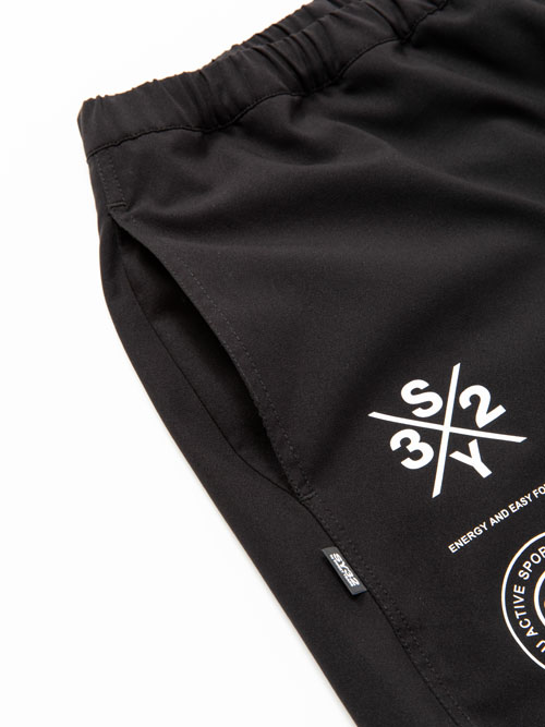 SY32 by SWEET YEARS「ATHLETIC SHORT PANTS」BLACK