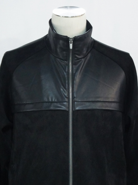 5351POUR LES HOMMES「ハイテンションレザートラックジャケット」ブラック【5351プール・オム】