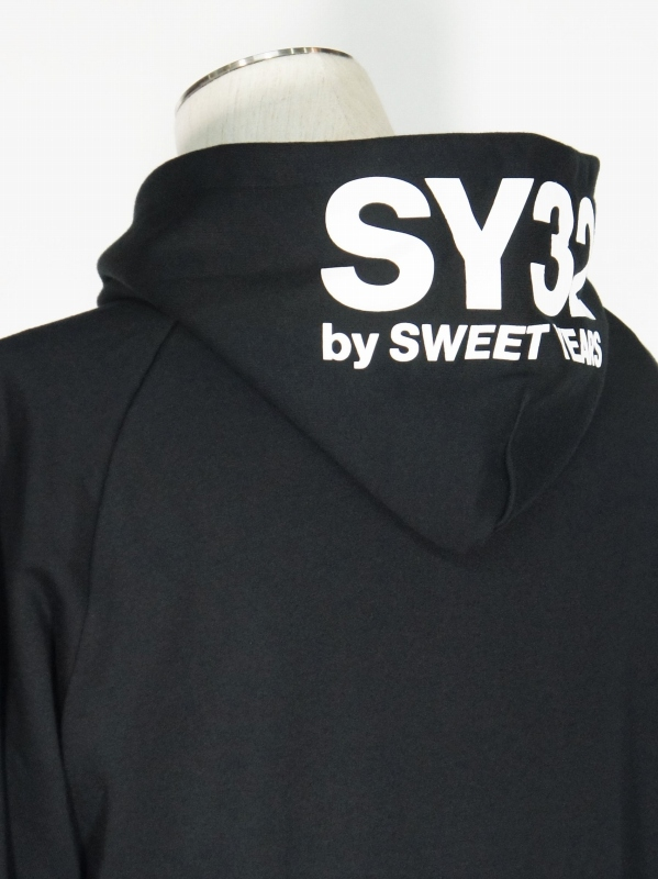 SY32 by SWEET YEARS「BASIC ZIP HOODIE」BLACK×WHITE