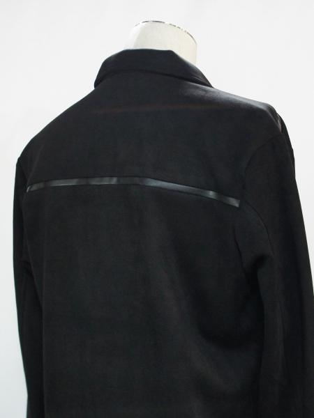 5351POUR LES HOMMES「PEスエード シャツ ジャケット」ブラック【5351プール・オム】