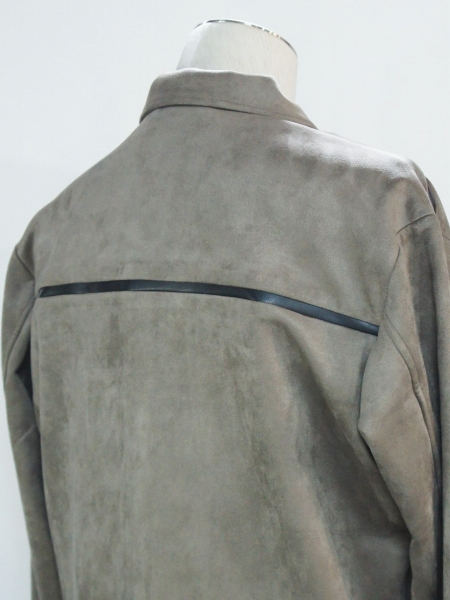 5351POUR LES HOMMES「PEスエード シャツ ジャケット」ベージュ【5351プール・オム】