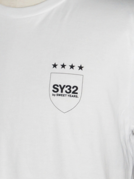 SY32 by SWEET YEARS「STAR SHIELD TEE」WHITE