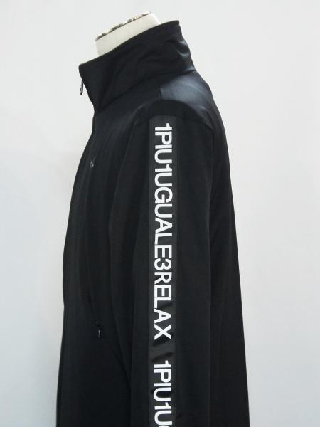 1PIU1UGUALE3 RELAX「4WAYストレッチスタンドカラージャケット」BLACK【ウノピゥウノウグァーレトレ リラックス】