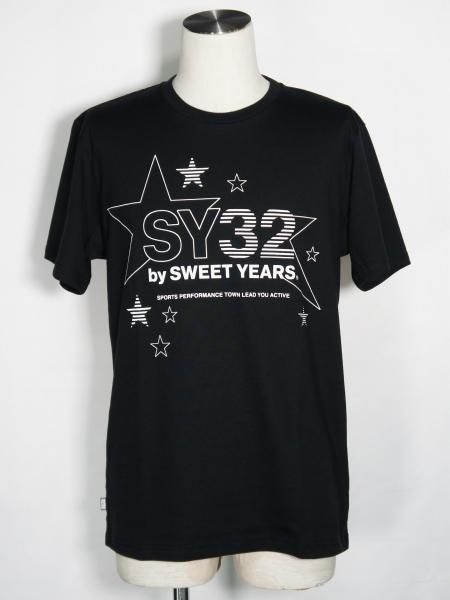 SY32 by SWEET YEARS「STAR LOGO TEE」BLACK