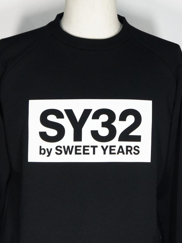 SY32 by SWEET YEARS「BOX LOGO P/O CREW」BLACK