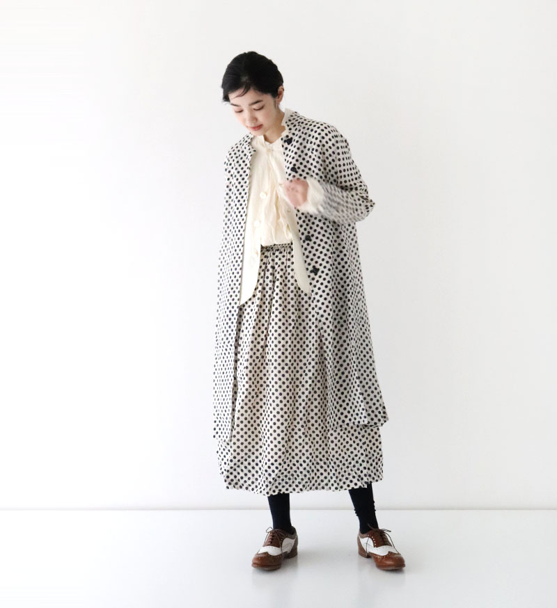 ※Special Edition※<br>LTD-001 ドットアローコートWhite/Nvy.Dot
