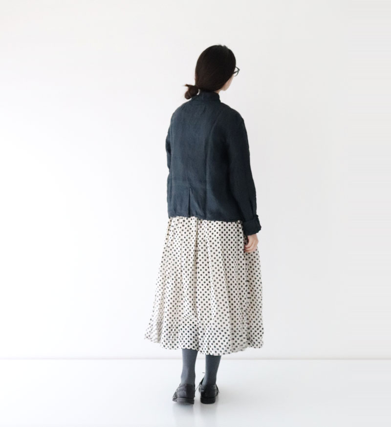 ※Special Edition※<br>LTD-002 ドットシャーリングスカート White/Nvy.Do