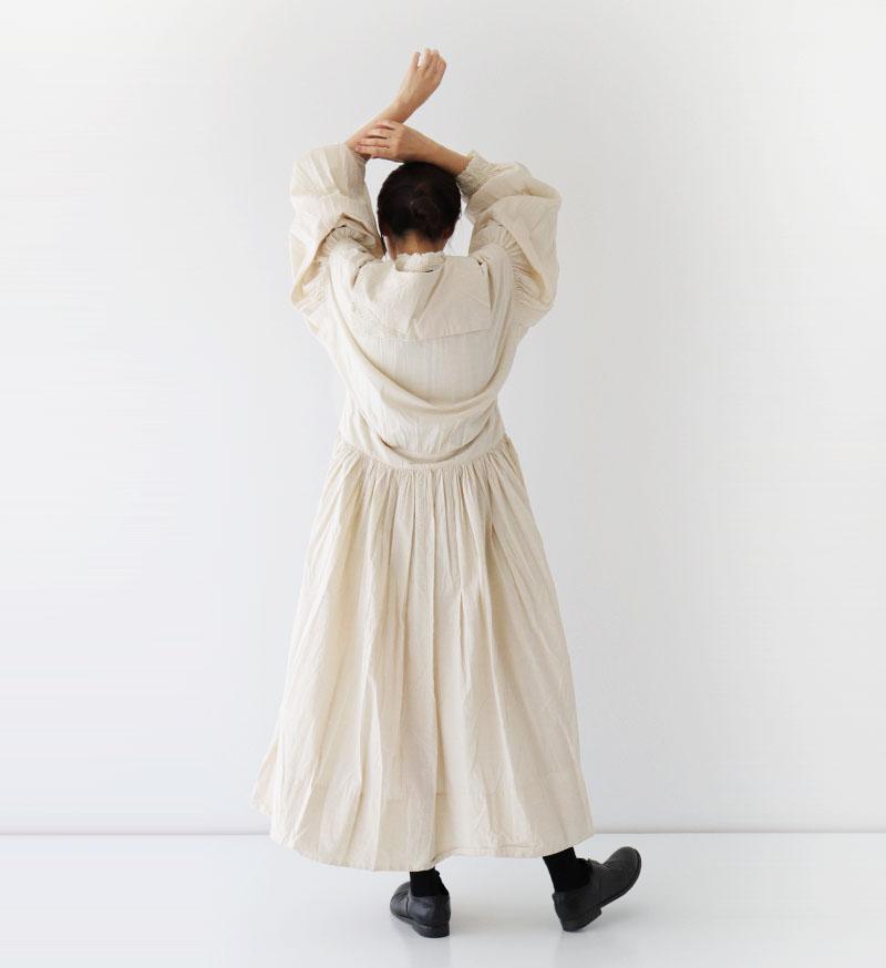 ※Veritecoeur online 限定※<br> NT-032 バテンレースセーラーカラーワンピース / KINARI