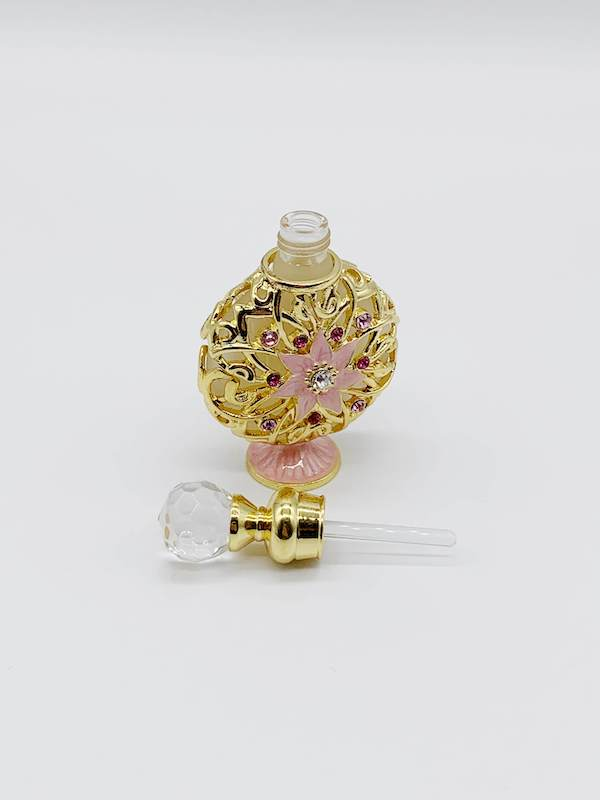 【ジャスミンの香水・女性用】ハンドメイドクリスタル香水瓶、100%植物エッセンシャルオイルで作る香水