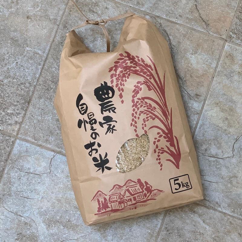 9月3日稲刈り・2020年新米!京都丹波産コシヒカリ玄米(5kg)