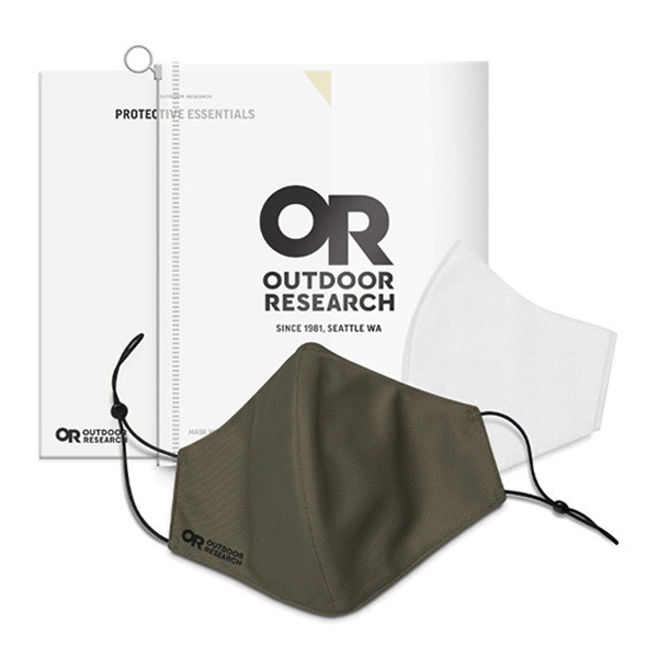 OUTDOOR RESEARCH アウトドアリサーチ Essential Face Mask Kit fatigue [お一人様3個まで]