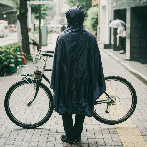 FAIRWEATHER フェアウェザー packable rain poncho navy