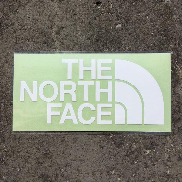 THE NORTH FACE ノースフェイス TNF Cutting Sticker ホワイト (W)