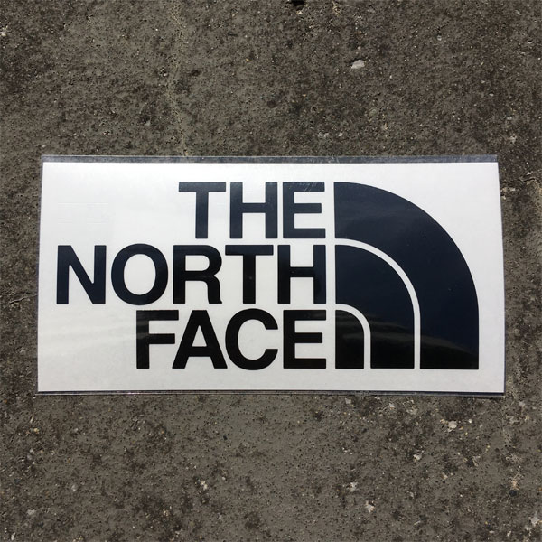 THE NORTH FACE ノースフェイス TNF Cutting Sticker ブラック (K)