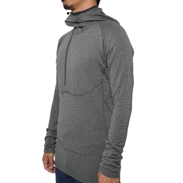 Teton Bros. ティートンブロス Power Wool Grid Hoody Gunmetal