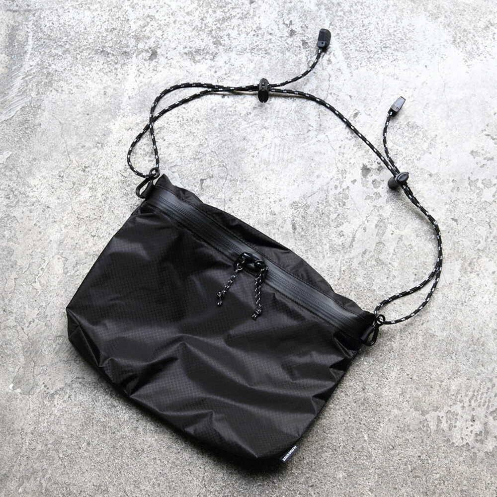 FAIRWEATHER フェアウェザー zip sacoche black