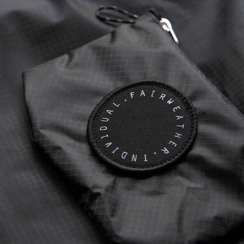 FAIRWEATHER フェアウェザー packable sacoche black