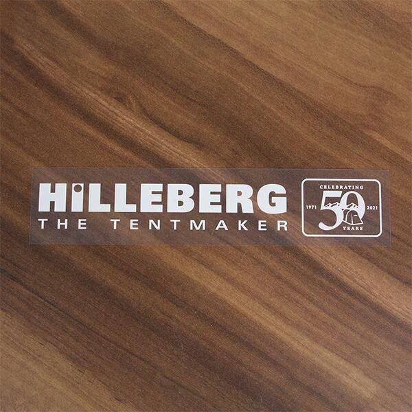 HILLEBERG ヒルバーグ HILLEBERG 50th デカールステッカー 白