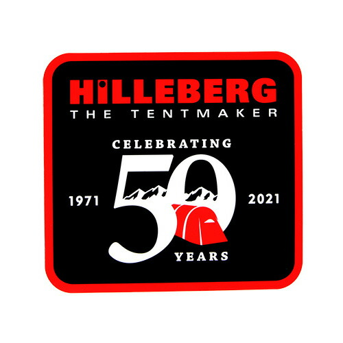 HILLEBERG ヒルバーグ HILLEBERG 50th パッチステッカー 黒