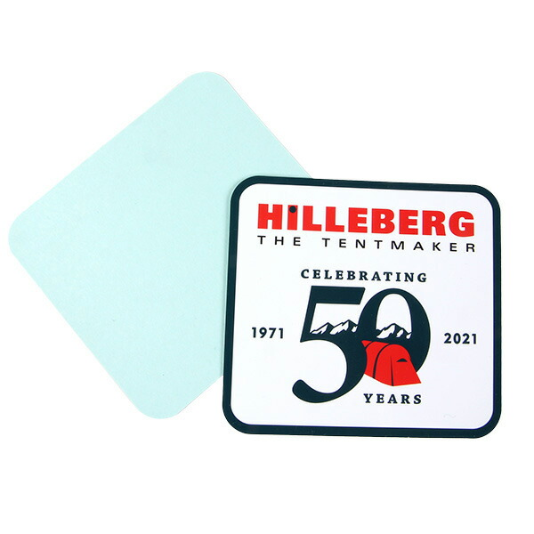 HILLEBERG ヒルバーグ HILLEBERG 50th パッチステッカー 緑