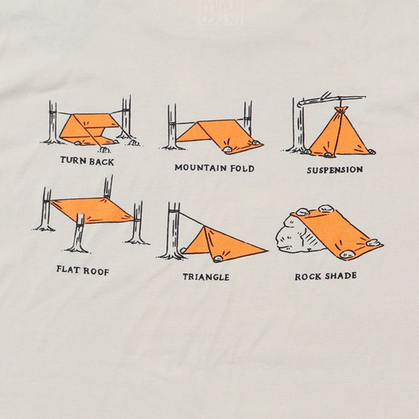 【30%OFFセール】 BAMBOO SHOOTS バンブーシュート Bivouac Shelter Tee White
