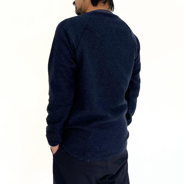【40%OFFセール】 SPINNER BAIT スピナーベイト イタリアンモヘア ラグランクルー ネイビー