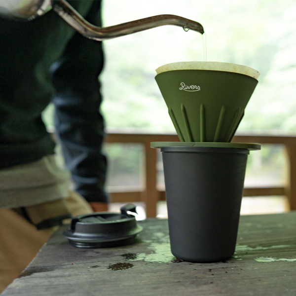 RIVERS リバーズ コーヒーポアオーバーセット(ケイブR/ポンドF) オリーブ