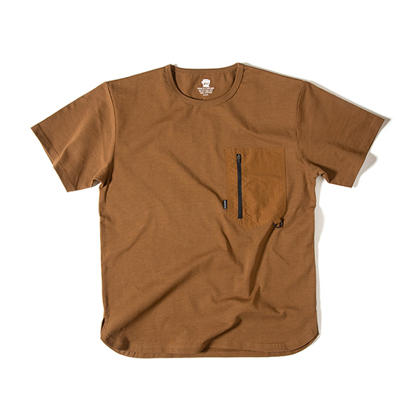 Grip Swany グリップスワニー Gear Pocket T Shirt Md.Brown