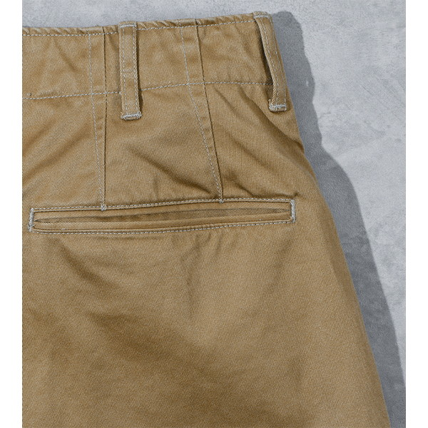 【30%OFFセール】 BAMBOO SHOOTS バンブーシュート Pleated Military Trousers-Chino Beige