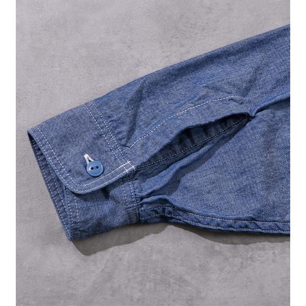【30%OFFセール】 BAMBOO SHOOTS バンブーシュート L/S Chambray Shirt Blue