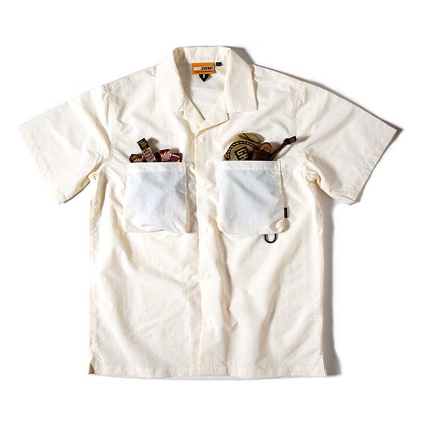 Grip Swany グリップスワニー Supplex Camp Shirt White