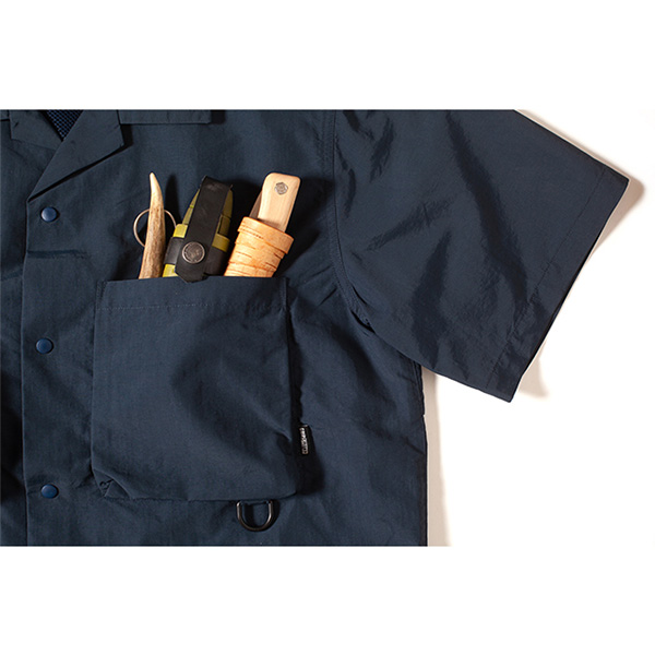 Grip Swany グリップスワニー Supplex Camp Shirt Dk.Navy