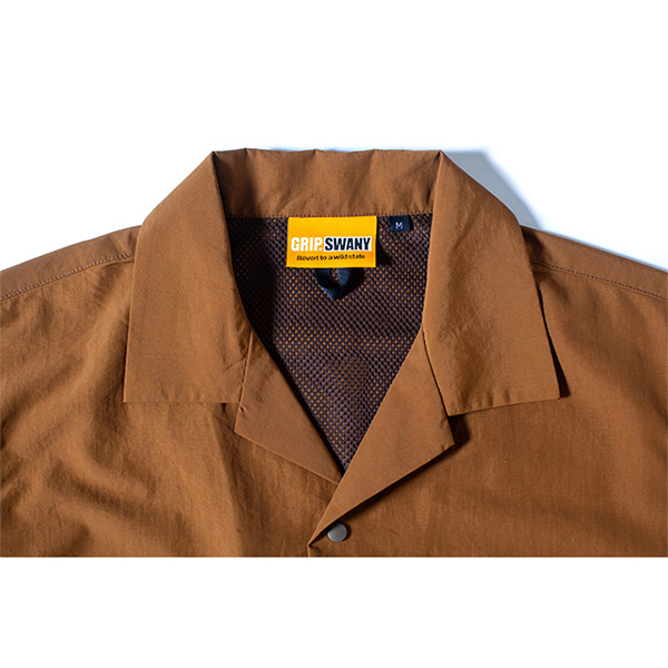 Grip Swany グリップスワニー Supplex Camp Shirt Md.Brown