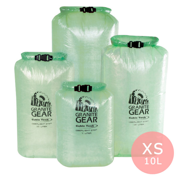GRANITE GEAR グラナイトギア eVent ウーバーライト ドライサック グリーン XS(10L)サイズ